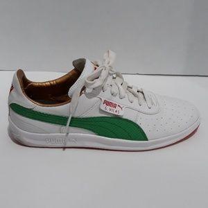 Puma G. Vilas Shoes with Red Gum Soles